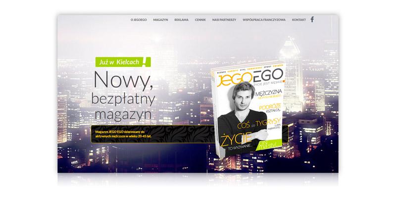Obsługa strony internetowej czasopisma www.jegoego.com