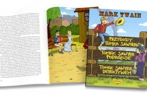 Przygotowanie do druku książki dla dzieci Przygody Tomka Sawyera
