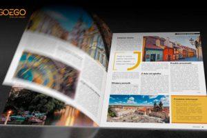 Animacja 3D prezentująca czasopismo